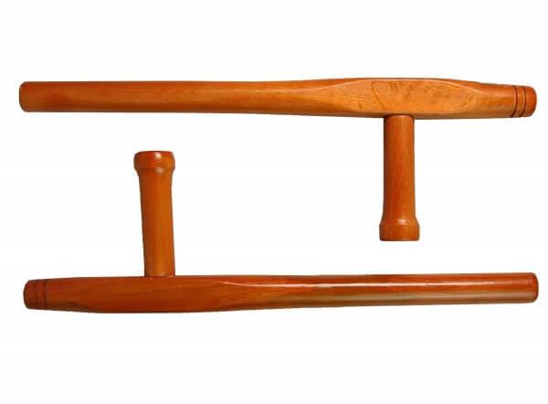 Tonfa Holz - Paar, rund, ca 51 cm