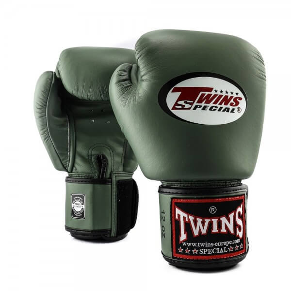 TWINS Boxhandschuhe Muay Thai Leder BGVL-3 MILITAIRY