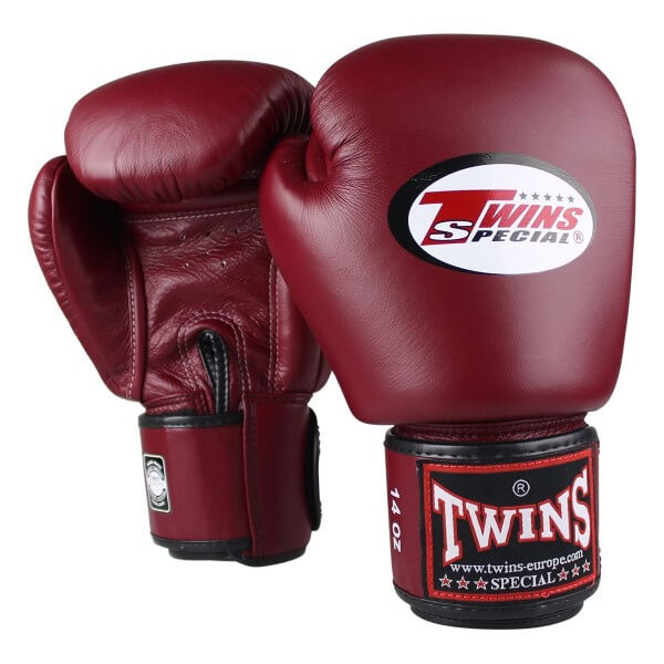 TWINS Boxhandschuhe Muay Thai Leder BGVL-3 WINE RED