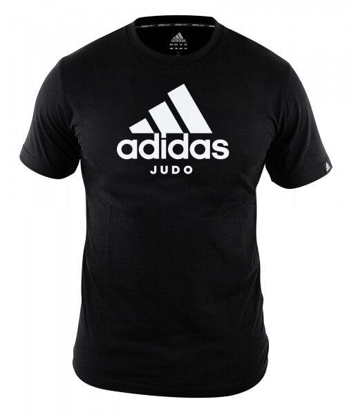 """ADIDAS Judo T-Shirt Community line """"Performance"""" black-white"""