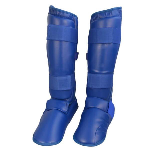 Karate Kumite Schienbein-Spannschutz blau Gr XS
