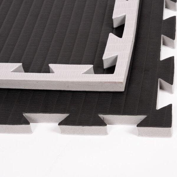 PRO FIGHT Kampfsportmatten 2 cm grau-schwarz ca. 100x100x2cm