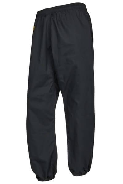 Kung Fu Hose schwarz Beine geschlossen, Gr. 120
