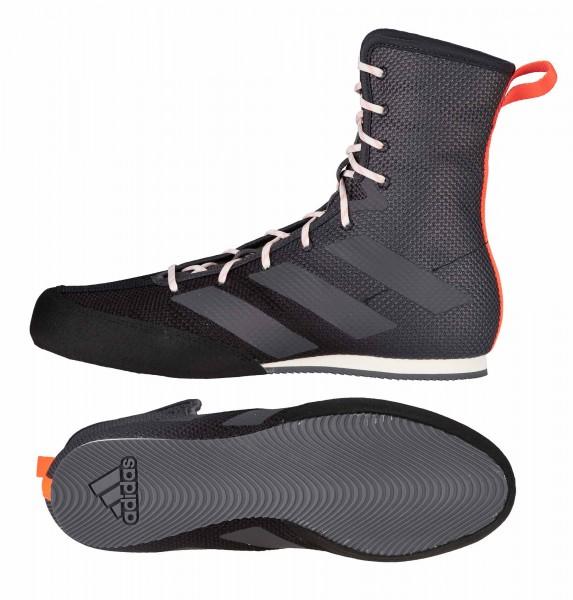 ADIDAS Box Hog 3 - Boxschuhe Boxerstiefel Black/Grey