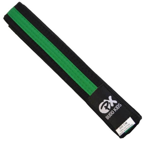 PX Budo Kids Softbelt, schwarz-grün, 200cm