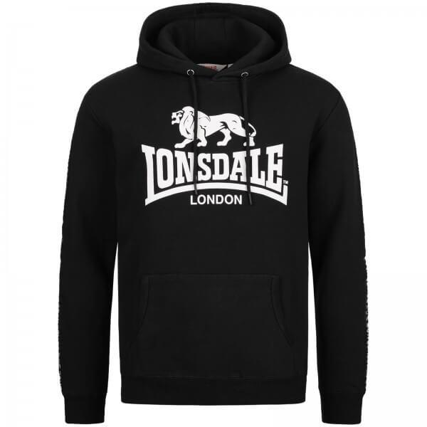LONSDALE Hoodie Herren Yapton Black