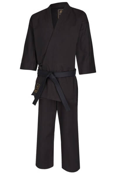 Karate Gi TORA BLACK  14oz  Canvas 160