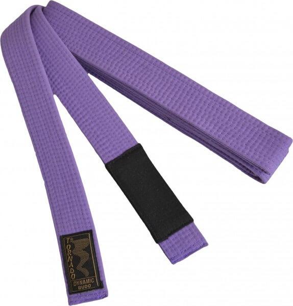 BJJ Gürtel violett, schwarzer Balken