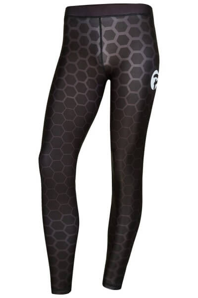 PX Damen Leggings, schw-grau, lang, XS
