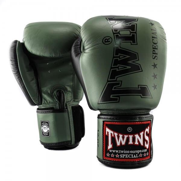 TWINS Boxhandschuhe BGVL 8 Military Grün