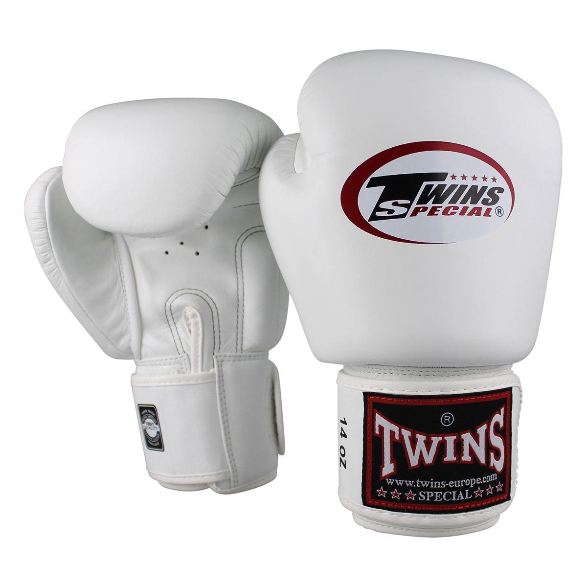 Boxen Muay Thai Twins Boxhandschuhe BGVL 3 in weiß Kickboxen MMA.best Leder