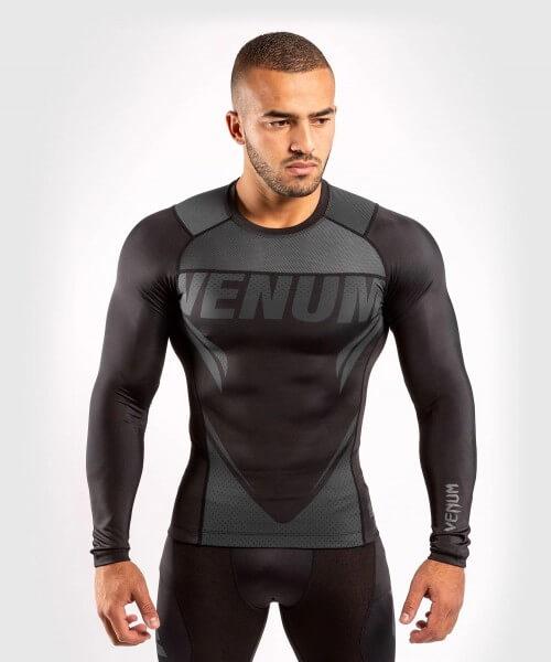 Venum ONE FC2 Rashguard Long Sleeves Black / Black S