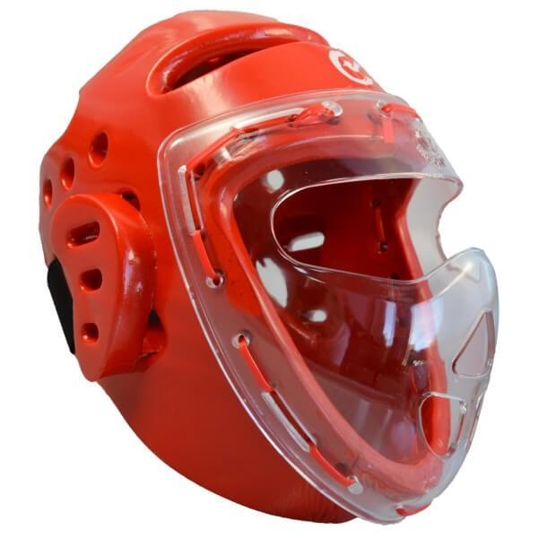 Kopfschützer rot Schaumstoff, Maske, WTF XS