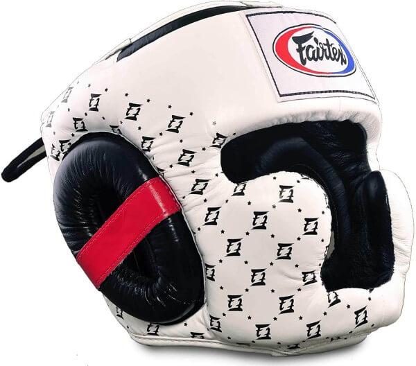 FAIRTEX Super Sparring Leder Kopfschutz HG10 weiß