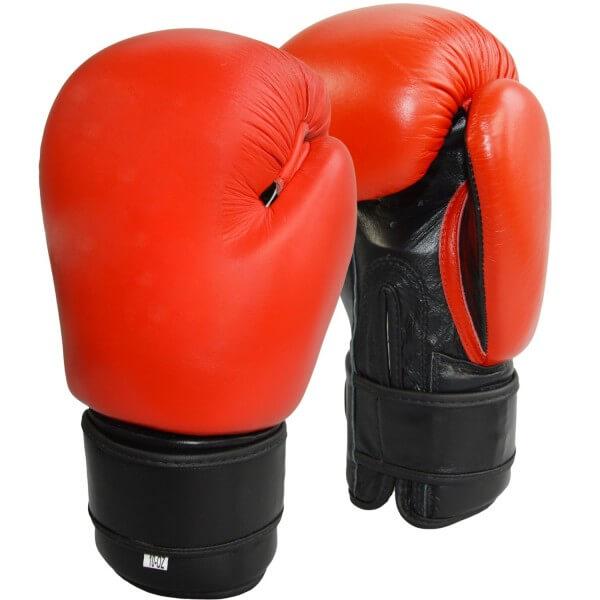 Boxhandschuhe Top-Modell rot Echtleder 8