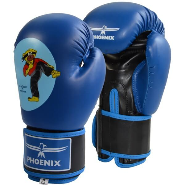Junior Boxhandschuhe PU blau 4oz BUDOBAERT
