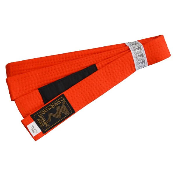 Kinder BJJ Gürtel orange m. Bar 220 cm