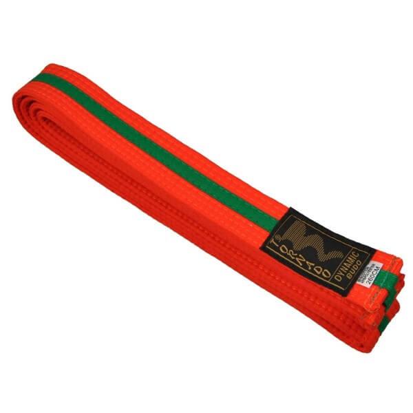 Budogürtel orange-grün 220 cm