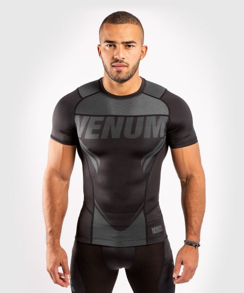Venum ONE FC2 Rashguard Short Sleeves Black / Black S