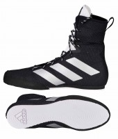 ADIDAS Box Hog 3 - Boxschuhe Boxerstiefel Black/Silver/White