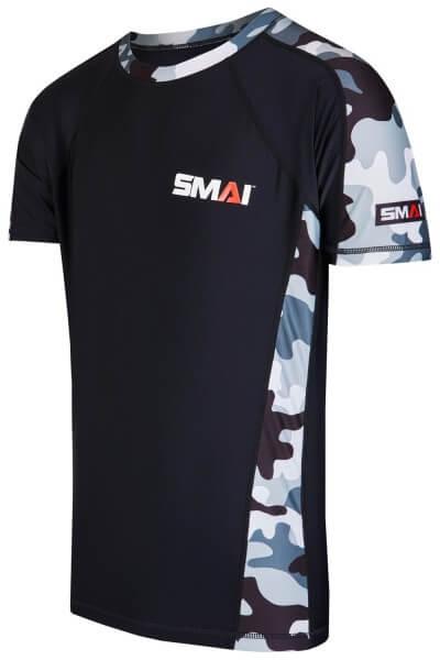 SMAI Rashguard kurzärmelig schwarz-camo S
