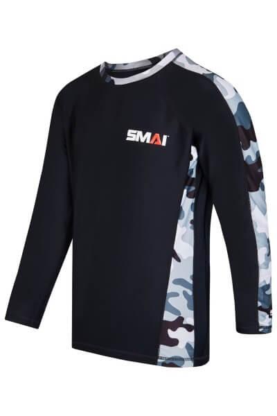 SMAI Rashguard langärmelig schwarz-camo S