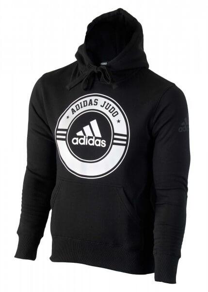 ADIDAS Hoodie Judo schwarz-weiß 140