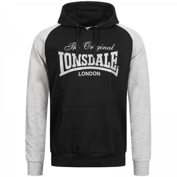 LONSDALE Herren-Kapuzenpullover Brundall Black
