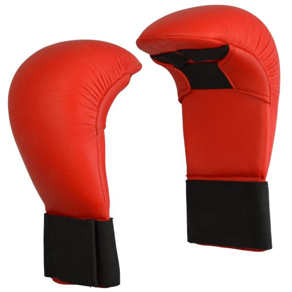 Karate Wettkampfhandschutz  rot  Gr XS