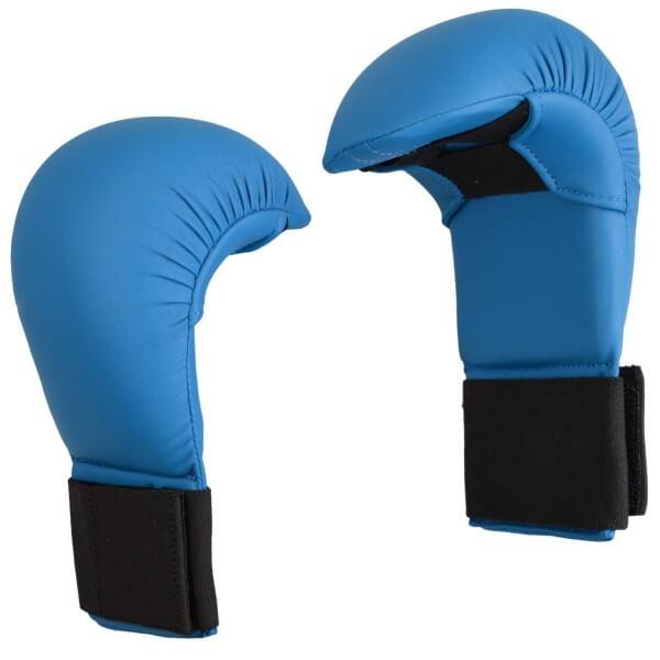 Karate Wettkampfhandschutz blau  Gr XS