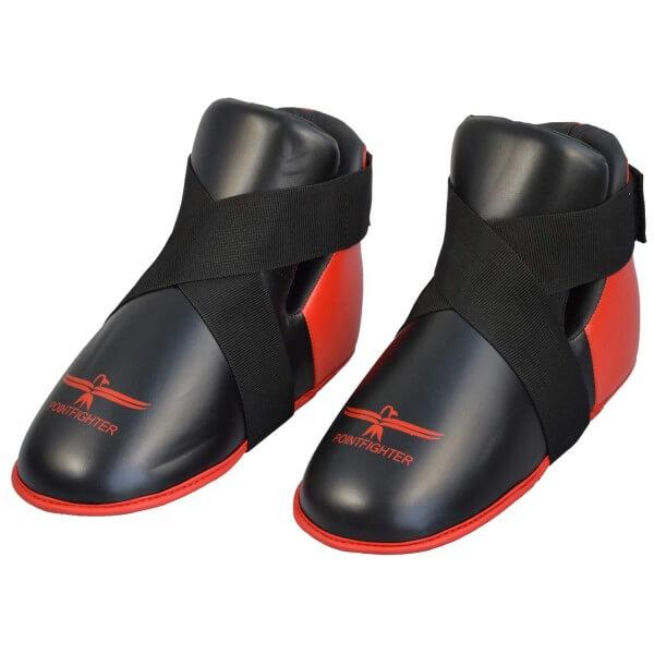 Fußschutz rot-schwarz, Zehentasche, Gr. XS, 35/36