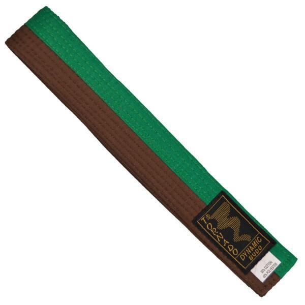 Budogürtel grün-braun mittig geteilt, 260 cm