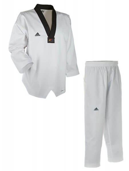 ADIDAS Taekwondo Anzug Adichamp Schwarzes Revers