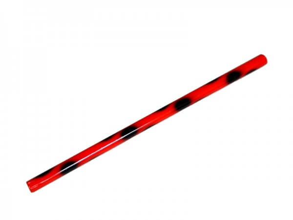 Escrima-Stock 65 cm x 2,5 cm rot-schwarz Rattan