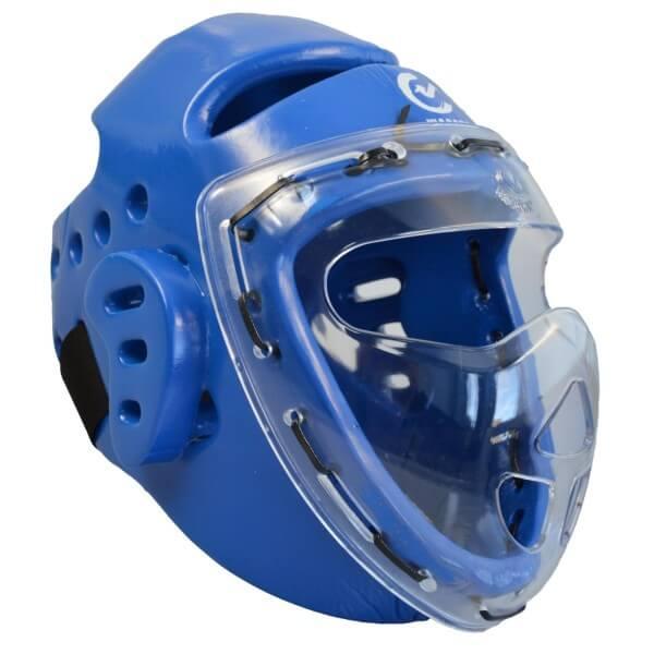 Kopfschützer blau Schaumstoff, Maske, WTF XS