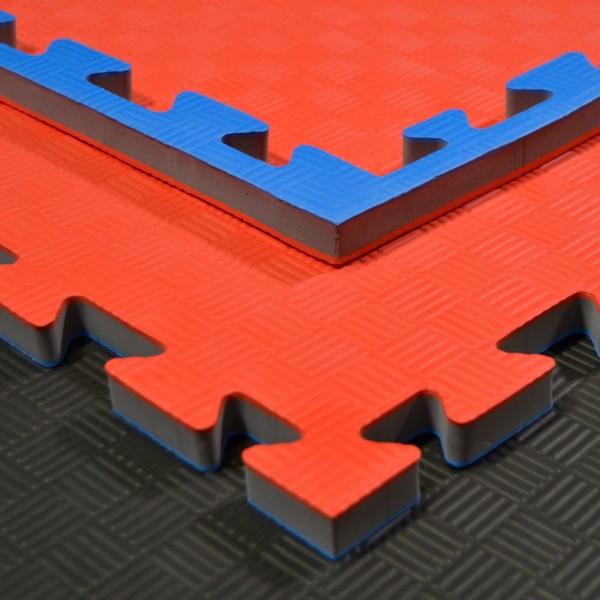 Kampfsportmatten rot/ blau 100x100x2cm