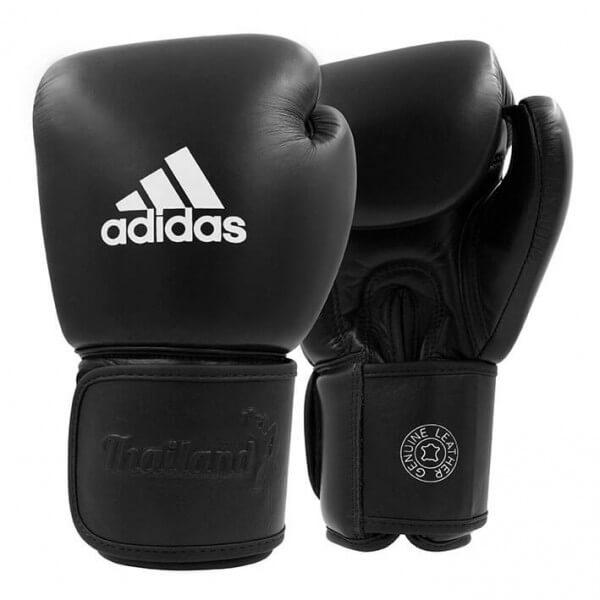 ADIDAS Muay Thai Boxhandschuhe Leder 200 black