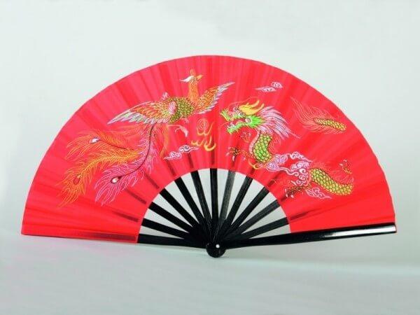 Kung Fu - Tai Chi Fächer Bambus rot
