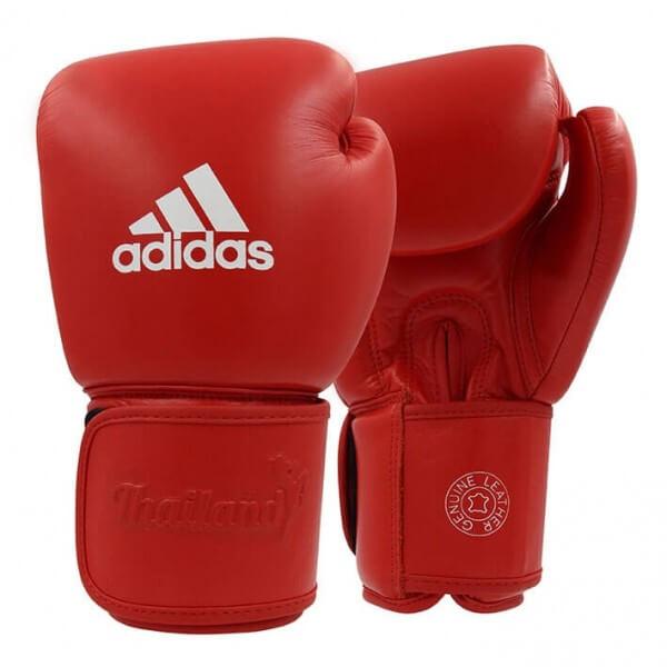 ADIDAS Muay Thai Boxhandschuhe Leder 200 red