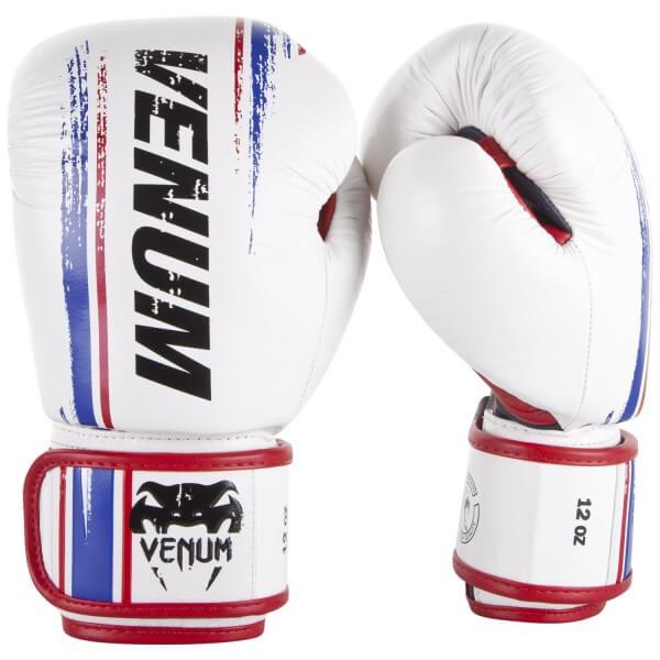 Venum Bangkok Spirit  Gloves - Nappa-White 10oz