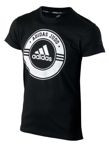 ADIDAS T-Shirt Combat Sport Judo schwarz-weiß 140