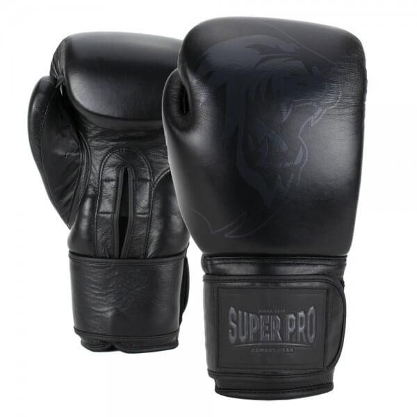 Super Pro Combat Legend Leder Boxhandschuhe black 12oz