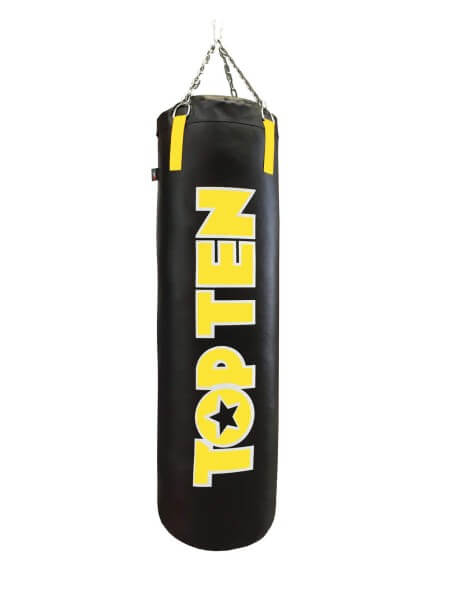 TOP TEN Boxsack gefüllt 180 cm - schwarz-gelb