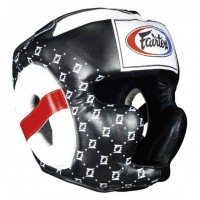 FAIRTEX Super Sparring Leder Kopfschutz HG10 schwarz