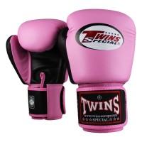 TWINS Boxhandschuhe Muay Thai Leder BGVL-3 PINK/BLACK 10 Oz