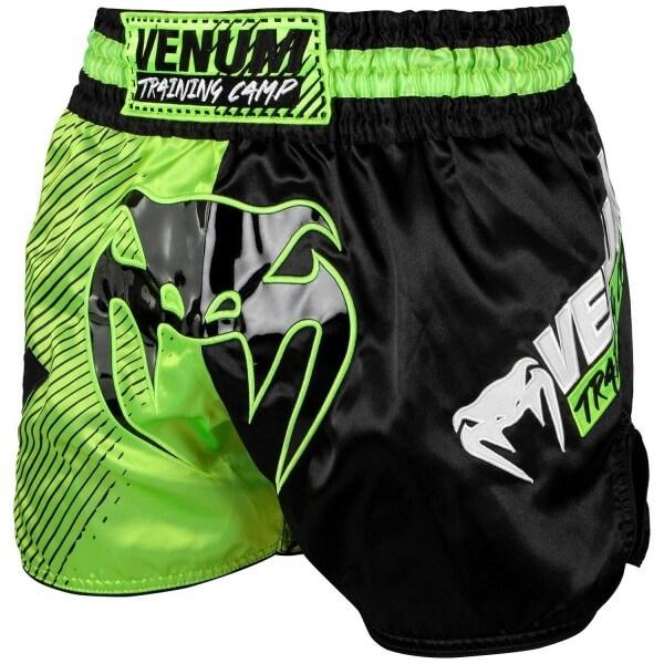 Venum Training Camp Muay Thai Shorts - Black/Neo M