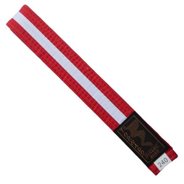 Budogürtel rot-weiß 240cm