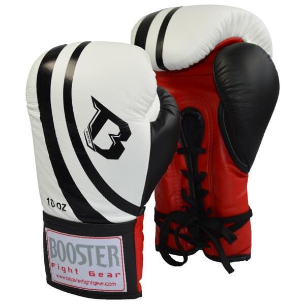 BOOSTER Wettkampf Boxhandschuh weiß Schnürung 10oz