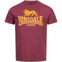 LONSDALE T-Shirt Herren LOGO Oxblood