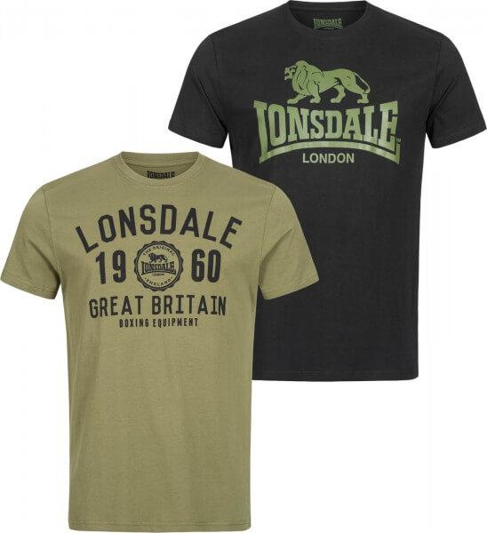 LONSDALE Herren T-Shirt Bangor Doppelpack